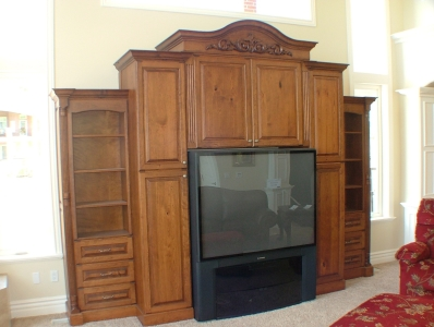 Custom Free Standing Entertainment Center - Legacy Mill & Cabinet