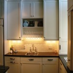White Kitchen cabinets with prep sink